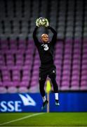 14 October 2019; Darren Randolph during a Republic of Ireland training session at Stade de Genève in Geneva, Switzerland. Photo by Stephen McCarthy/Sportsfile