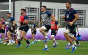 15 October 2019; Peter O'Mahony, centre, with Andrew Porter and Tadhg Beirne during Ireland Rugby squad training in Arcs Urayasu Park in Urayasu, Aichi, Japan. Photo by Brendan Moran/Sportsfile