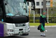 15 October 2019; Jonathan Sexton arrives for Ireland rugby squad training in Arcs Urayasu Park in Urayasu, Aichi, Japan. Photo by Brendan Moran/Sportsfile