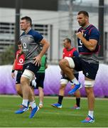15 October 2019; Peter O'Mahony, left, and Tadhg Beirne during Ireland Rugby squad training in Arcs Urayasu Park in Urayasu, Aichi, Japan. Photo by Brendan Moran/Sportsfile