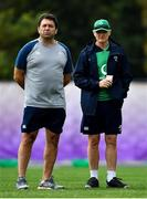 15 October 2019; IRFU Performance Director David Nucifora, left, and head coach Joe Schmidt during Ireland Rugby squad training in Arcs Urayasu Park in Urayasu, Aichi, Japan. Photo by Brendan Moran/Sportsfile