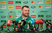 15 October 2019; Cian Healy during an Ireland Rugby press conference in the Hilton Tokyo Bay Hotel in Urayasu, Chiba, Japan. Photo by Ramsey Cardy/Sportsfile