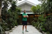 15 October 2019; Peter O'Mahony poses for a portrait after an Ireland rugby press conference at the Hilton Tokyo Bay in Urayasu, Chiba, Japan. Photo by Brendan Moran/Sportsfile