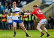 13 October 2019; Peter Harte of Errigal Ciaran in action against James Garrity of Trillick during the Tyrone County Senior Club Football Championship Final match between Errigal Ciaran and Trillick at Healy Park in Omagh, Tyrone. Photo by Oliver McVeigh/Sportsfile
