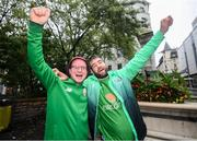 15 October 2019; Republic of Ireland supporters, Enda Kirby, from Limerick, and Peter Marren, from Carrickmacross in Monaghan, in Geneva prior to the UEFA EURO2020 Qualifier match between Switzerland and Republic of Ireland at Stade de Genève in Switzerland. Photo by Stephen McCarthy/Sportsfile