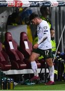 15 October 2019; Aaron Connolly of Republic of Ireland makes his way to the dugout after he is substituted in the second half during the UEFA EURO2020 Qualifier match between Switzerland and Republic of Ireland at Stade de Genève in Geneva, Switzerland. Photo by Stephen McCarthy/Sportsfile