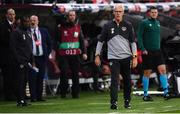 15 October 2019; Republic of Ireland manager Mick McCarthy during the UEFA EURO2020 Qualifier match between Switzerland and Republic of Ireland at Stade de Genève in Geneva, Switzerland. Photo by Stephen McCarthy/Sportsfile