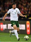 15 October 2019; Enda Stevens of Republic of Ireland during the UEFA EURO2020 Qualifier match between Switzerland and Republic of Ireland at Stade de Genève in Geneva, Switzerland. Photo by Seb Daly/Sportsfile