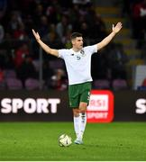15 October 2019; John Egan of Republic of Ireland during the UEFA EURO2020 Qualifier match between Switzerland and Republic of Ireland at Stade de Genève in Geneva, Switzerland. Photo by Seb Daly/Sportsfile