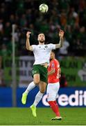 15 October 2019; Shane Duffy of Republic of Ireland during the UEFA EURO2020 Qualifier match between Switzerland and Republic of Ireland at Stade de Genève in Geneva, Switzerland. Photo by Seb Daly/Sportsfile