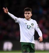 15 October 2019; Aaron Connolly of Republic of Ireland during the UEFA EURO2020 Qualifier match between Switzerland and Republic of Ireland at Stade de Genève in Geneva, Switzerland. Photo by Stephen McCarthy/Sportsfile
