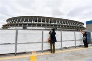 16 October 2019; A member of the media photographs the Tokyo Olympic Stadium, Tokyo 2020 Summer Olympic Games venue for the opening and closing ceremonies, football and athletics, during the Tokyo 2nd World Press Briefing venue tour ahead of the 2020 Tokyo Summer Olympic Games. The Tokyo 2020 Games of the XXXII Olympiad take place from Friday 24th July to Sunday 9th August 2020 in Tokyo, Japan, the second Summer Olympics Games to be held in Tokyo, the first being 1964. Photo by Brendan Moran/Sportsfile