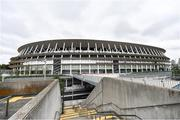 16 October 2019; The Tokyo Olympic Stadium, Tokyo 2020 Summer Olympic Games venue for the opening and closing ceremonies, football and athletics, during the Tokyo 2nd World Press Briefing venue tour ahead of the 2020 Tokyo Summer Olympic Games. The Tokyo 2020 Games of the XXXII Olympiad take place from Friday 24th July to Sunday 9th August 2020 in Tokyo, Japan, the second Summer Olympics Games to be held in Tokyo, the first being 1964. Photo by Brendan Moran/Sportsfile