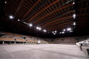 16 October 2019; The Ariake Gymnastics Centre, Tokyo 2020 Summer Olympic Games venue for gymnastics, during the Tokyo 2nd World Press Briefing venue tour ahead of the 2020 Tokyo Summer Olympic Games. The Tokyo 2020 Games of the XXXII Olympiad take place from Friday 24th July to Sunday 9th August 2020 in Tokyo, Japan, the second Summer Olympics Games to be held in Tokyo, the first being 1964. Photo by Brendan Moran/Sportsfile