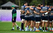 17 October 2019; Head coach Joe Schmidt leaves the team as they huddle together during Ireland Rugby squad training in Arcs Urayasu Park in Urayasu, Aichi, Japan. Photo by Brendan Moran/Sportsfile