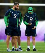 17 October 2019; Head coach Joe Schmidt, right, and defence coach Andy Farrell during Ireland Rugby squad training in Arcs Urayasu Park in Urayasu, Aichi, Japan. Photo by Ramsey Cardy/Sportsfile