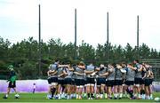 17 October 2019; The Ireland team huddle alongside head coach Joe Schmidt during Ireland Rugby squad training in Arcs Urayasu Park in Urayasu, Aichi, Japan. Photo by Ramsey Cardy/Sportsfile