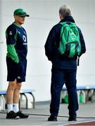 17 October 2019; Head coach Joe Schmidt in conversation with Head of Operations Ger Carmody during Ireland Rugby squad training in Arcs Urayasu Park in Urayasu, Aichi, Japan. Photo by Brendan Moran/Sportsfile
