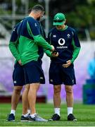 17 October 2019; Head coach Joe Schmidt, right, with defence coach Andy Farrell during Ireland Rugby squad training in Arcs Urayasu Park in Urayasu, Aichi, Japan. Photo by Brendan Moran/Sportsfile