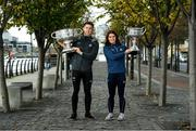 17 October 2019; Dublin footballer Davy Byrne and Ladies footballer Niamh Collins were welcomed at sponsor AIG Insurance's head office in Dublin today by employees to mark their recent All-Ireland wins and help launch new celebratory Car and Home Insurance discounts being announced at AIG Head Office, North Wall Quay in Dublin.  Photo by Matt Browne/Sportsfile