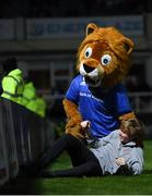 11 October 2019; Leo the Lion during the Guinness PRO14 Round 3 match between Leinster and Edinburgh at the RDS Arena in Dublin. Photo by Harry Murphy/Sportsfile
