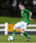 17 October 2019; James McManus of Republic of Ireland during the Under-15 UEFA Development Tournament match between Republic of Ireland and Latvia at Solar 21 Park, Castlebar, Mayo. Photo by Eóin Noonan/Sportsfile *** NO REPRODUCTION FEE ***