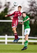 17 October 2019; Dinis Caika of Latvia in action against Liam Murray of Republic of Ireland during the Under-15 UEFA Development Tournament match between Republic of Ireland and Latvia at Solar 21 Park, Castlebar, Mayo. Photo by Eóin Noonan/Sportsfile *** NO REPRODUCTION FEE ***
