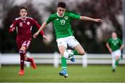 17 October 2019; Adam Nugent of Republic of Ireland during the Under-15 UEFA Development Tournament match between Republic of Ireland and Latvia at Solar 21 Park, Castlebar, Mayo. Photo by Eóin Noonan/Sportsfile *** NO REPRODUCTION FEE ***