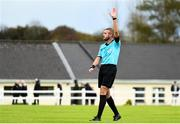 17 October 2019; Referee Mark Patchell during the Under-15 UEFA Development Tournament match between Republic of Ireland and Latvia at Solar 21 Park, Castlebar, Mayo. Photo by Eóin Noonan/Sportsfile *** NO REPRODUCTION FEE ***