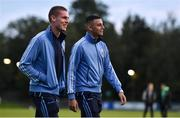 18 October 2019; Jack Keaney, left, and Yoyo Mahdy of UCD ahead of the SSE Airtricity League Premier Division match between UCD and Shamrock Rovers at The UCD Bowl in Belfield, Dublin. Photo by Ben McShane/Sportsfile