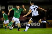 18 October 2019; Garry Buckley of Cork City in action against Robbie Benson of Dundalkduring the SSE Airtricity League Premier Division match between Cork City and Dundalk at Turners Cross in Cork. Photo by Piaras Ó Mídheach/Sportsfile