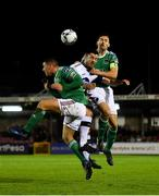 18 October 2019; Patrick Hoban of Dundalk in action against Dan Casey, left, and Conor McCarthy of Cork City during the SSE Airtricity League Premier Division match between Cork City and Dundalk at Turners Cross in Cork. Photo by Piaras Ó Mídheach/Sportsfile