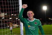 18 October 2019; Dan Casey of Cork City celebrates after the SSE Airtricity League Premier Division match between Cork City and Dundalk at Turners Cross in Cork. Photo by Piaras Ó Mídheach/Sportsfile