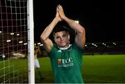 18 October 2019; Winning goalscorer Daire O'Connor of Cork City celebrates after the SSE Airtricity League Premier Division match between Cork City and Dundalk at Turners Cross in Cork. Photo by Piaras Ó Mídheach/Sportsfile