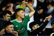 18 October 2019; Cork City supporters during the SSE Airtricity League Premier Division match between Cork City and Dundalk at Turners Cross in Cork. Photo by Piaras Ó Mídheach/Sportsfile