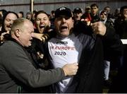 18 October 2019; Bohemians supporters celebrate qualifying for Europa League following the SSE Airtricity League Premier Division match between St Patrick's Athletic and Bohemians at Richmond Park in Dublin. Photo by Harry Murphy/Sportsfile