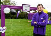 19 October 2019; Vhi ambassador and Olympian David Gillick is pictured ahead of the Porterstown parkrun where Vhi hosted a special event to celebrate their partnership with parkrun Ireland. David was on hand to lead the warm up for parkrun participants before completing the 5km free event. Parkrunners enjoyed refreshments post event at the Vhi Rehydrate, Relax, Refuel and Reward areas. parkrun in partnership with Vhi support local communities in organising free, weekly, timed 5k runs every Saturday at 9.30am. To register for a parkrun near you visit www.parkrun.ie. Photo by Seb Daly/Sportsfile