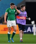 19 October 2019; Garry Ringrose of Ireland leaves the pitch with an injury during the 2019 Rugby World Cup Quarter-Final match between New Zealand and Ireland at the Tokyo Stadium in Chofu, Japan. Photo by Brendan Moran/Sportsfile