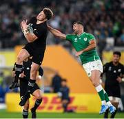 19 October 2019; Rob Kearney of Ireland in action against Beauden Barrett of New Zealand during the 2019 Rugby World Cup Quarter-Final match between New Zealand and Ireland at the Tokyo Stadium in Chofu, Japan. Photo by Ramsey Cardy/Sportsfile