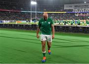 19 October 2019; Rory Best of Ireland goes to meet his family after the 2019 Rugby World Cup Quarter-Final match between New Zealand and Ireland at the Tokyo Stadium in Chofu, Japan. Photo by Brendan Moran/Sportsfile