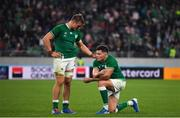 19 October 2019; Josh van der Flier and Jacob Stockdale of Ireland after the 2019 Rugby World Cup Quarter-Final match between New Zealand and Ireland at the Tokyo Stadium in Chofu, Japan. Photo by Brendan Moran/Sportsfile