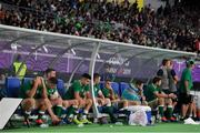 19 October 2019; A dejected Irish bench look on during the final moments of the 2019 Rugby World Cup Quarter-Final match between New Zealand and Ireland at the Tokyo Stadium in Chofu, Japan. Photo by Brendan Moran/Sportsfile