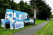 19 October 2019; Refill.ie Mobile Hydration Station at the Porterstown parkrun where Vhi hosted a special event to celebrate their partnership with parkrun Ireland. Vhi ambassador and Olympian David Gillick was on hand to lead the warm up for parkrun participants before completing the 5km free event. Parkrunners enjoyed refreshments post event at the Vhi Rehydrate, Relax, Refuel and Reward areas. parkrun in partnership with Vhi support local communities in organising free, weekly, timed 5k runs every Saturday at 9.30am. To register for a parkrun near you visit www.parkrun.ie. Photo by Seb Daly/Sportsfile