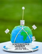 19 October 2019; Birthday cake celebrating 100,000kms run at the Porterstown parkrun where Vhi hosted a special event to celebrate their partnership with parkrun Ireland. Vhi ambassador and Olympian David Gillick was on hand to lead the warm up for parkrun participants before completing the 5km free event. Parkrunners enjoyed refreshments post event at the Vhi Rehydrate, Relax, Refuel and Reward areas. parkrun in partnership with Vhi support local communities in organising free, weekly, timed 5k runs every Saturday at 9.30am. To register for a parkrun near you visit www.parkrun.ie. Photo by Seb Daly/Sportsfile