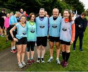 19 October 2019; Pace Runners at the Porterstown parkrun where Vhi hosted a special event to celebrate their partnership with parkrun Ireland. Vhi ambassador and Olympian David Gillick was on hand to lead the warm up for parkrun participants before completing the 5km free event. Parkrunners enjoyed refreshments post event at the Vhi Rehydrate, Relax, Refuel and Reward areas. parkrun in partnership with Vhi support local communities in organising free, weekly, timed 5k runs every Saturday at 9.30am. To register for a parkrun near you visit www.parkrun.ie. Photo by Seb Daly/Sportsfile