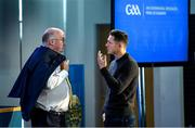 19 October 2019; Uachtarán Chumann Lúthchleas Gael John Horan, left, speaking with GPA CEO Paul Flynn before the motions were discussed at the GAA Special Congress at Páirc Uí Chaoimh in Cork. Photo by Piaras Ó Mídheach/Sportsfile