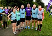 19 October 2019; Pace Runners with Vhi ambassador and Olympian David Gillick at the Porterstown parkrun where Vhi hosted a special event to celebrate their partnership with parkrun Ireland. David was on hand to lead the warm up for parkrun participants before completing the 5km free event. Parkrunners enjoyed refreshments post event at the Vhi Rehydrate, Relax, Refuel and Reward areas. parkrun in partnership with Vhi support local communities in organising free, weekly, timed 5k runs every Saturday at 9.30am. To register for a parkrun near you visit www.parkrun.ie. Photo by Seb Daly/Sportsfile