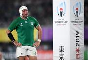 19 October 2019; Rory Best of Ireland dejected during the 2019 Rugby World Cup Quarter-Final match between New Zealand and Ireland at the Tokyo Stadium in Chofu, Japan. Photo by Ramsey Cardy/Sportsfile