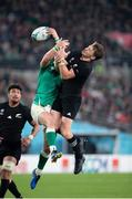 19 October 2019; Beauden Barrett of New Zealand during the Rugby World Cup Quarter-Final match between New Zealand and Ireland at the Tokyo Stadium in Chofu, Japan. Photo by Juan Gasparini/Sportsfile
