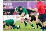 19 October 2019; Robbie Henshaw of Ireland scores a late try during the 2019 Rugby World Cup Quarter-Final match between New Zealand and Ireland at the Tokyo Stadium in Chofu, Japan. Photo by Juan Gasparini/Sportsfile